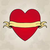Heart tattoo. Place to insert your text Stock Photography