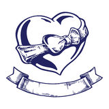 Heart tattoo Royalty Free Stock Images