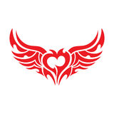 Heart tattoo. Vector. Heart tattoo isolated on black background Stock Photography