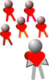 Heart Teamwork Royalty Free Stock Photography