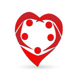 Heart teamwork logo Royalty Free Stock Image