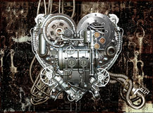 Heart. A technically mechanical heart at hard work Stock Images