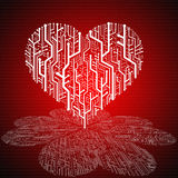Heart of technology business Stock Photo