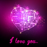 Heart technology design Stock Photos
