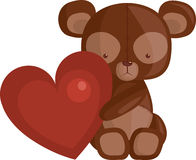 Heart and Teddy Bear Royalty Free Stock Photo