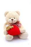 Heart teddy bear Stock Images