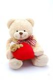 Heart teddy bear stock images