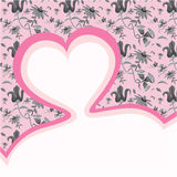 Heart template header. Sweet pink header can be used for love letters and cards Royalty Free Stock Photography