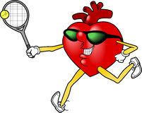 Heart_tennis.jpg Stock Photos