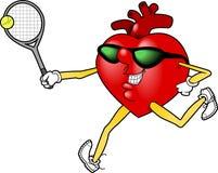 Heart_tennis.jpg Stock Photos
