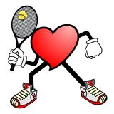 Heart tennis sport Royalty Free Stock Photos
