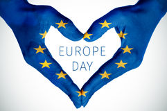 Heart and text europe day royalty free stock image