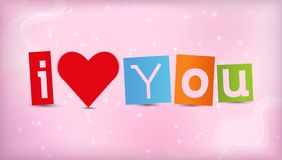 Heart with text I love you Royalty Free Stock Photos