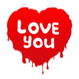 Heart with text Love You Stock Images