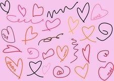 Heart texture background Stock Photos