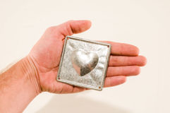 Heart texture background Royalty Free Stock Photos