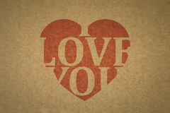 Heart on textured fabric Royalty Free Stock Photography