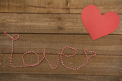 Heart on Textured Wood Royalty Free Stock Images