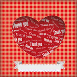 Heart Thank You Background Stock Image