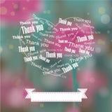 Heart Thank You Bokeh Background Royalty Free Stock Photos