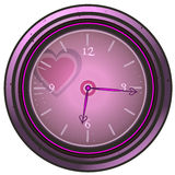 Heart themed Clock of Love. Stock Photos