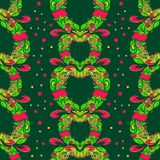 Heart themed seamless pattern Stock Image