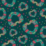 Heart themed seamless pattern Royalty Free Stock Photos