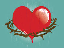 Heart with Thorns Stock Images