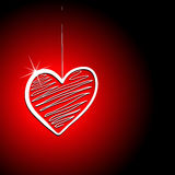 Heart on thread background Stock Photography