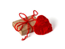 Heart of thread and a gift Stock Images