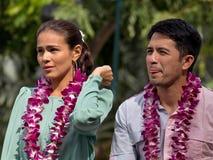 Heart throbs. Event: 19th Annual Filipino Fiesta, 07.V.11 Location: Fort De Russey to Kapi'olani Park, Waikiki, O'ahu, Hawai'i, USA Subject: Philippine TV Kapuso stock image
