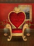 Heart throne. Fantasy room with a heart throne vector illustration