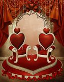 Heart thrones Royalty Free Stock Photography