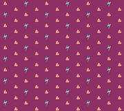 Heart and Thunder Pattern. Heart and Thunder Seamless Pattern Royalty Free Stock Photo