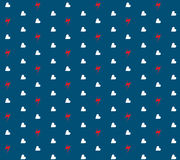 Heart and Thunder Pattern. Heart and Thunder Seamless Pattern Stock Photos
