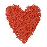 Heart of Tibetan barberry, red berry Goji Stock Image
