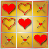 Heart Tic Tac Toe Illustration Stock Images