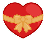 Heart Tied with a Ribbon Bow Stock Image