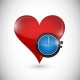 Heart and time illustration design Royalty Free Stock Photography