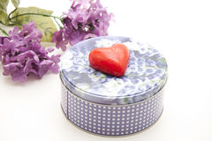 Heart on tin can Royalty Free Stock Photos