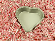 Heart tin, candy Royalty Free Stock Photo