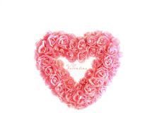 Heart with tiny pink roses Royalty Free Stock Photography