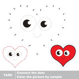 Heart to be traced. Vector numbers game. Stock Images