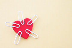 Heart to clip Royalty Free Stock Image