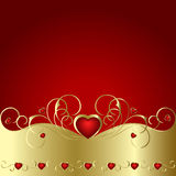 Heart to the St.Valentine. On a red background Royalty Free Stock Image