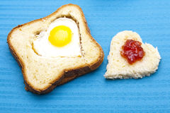 Heart toast Stock Image