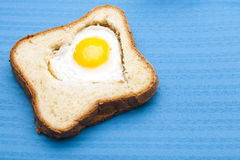 Heart toast Stock Photography