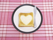 Heart Toast Stock Images