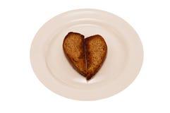 Heart toast Stock Photos