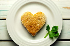 Heart toast Royalty Free Stock Photography